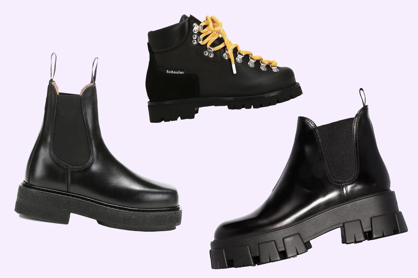 Chunky Black Platform Designer Boots