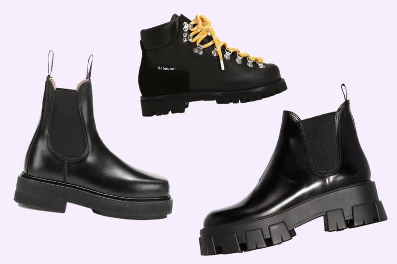 Chunky Black Platform Designer Boots Fall Prada Off White Ganni Eytys 032c Buffalo London Burberry Proenza Schouler Rick Owens