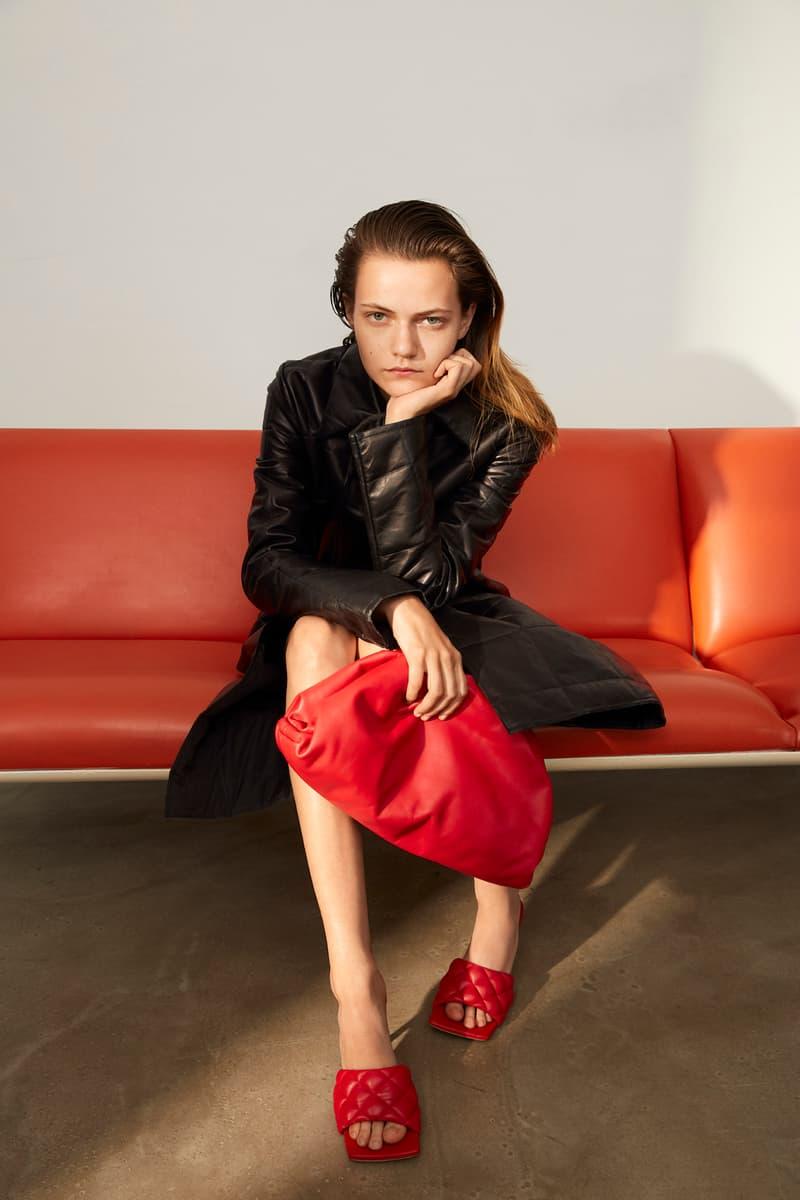 Bottega Veneta x mytheresa.com Exclusive Capsule The Pouch Square Toe Sandal Heel Red Design Release