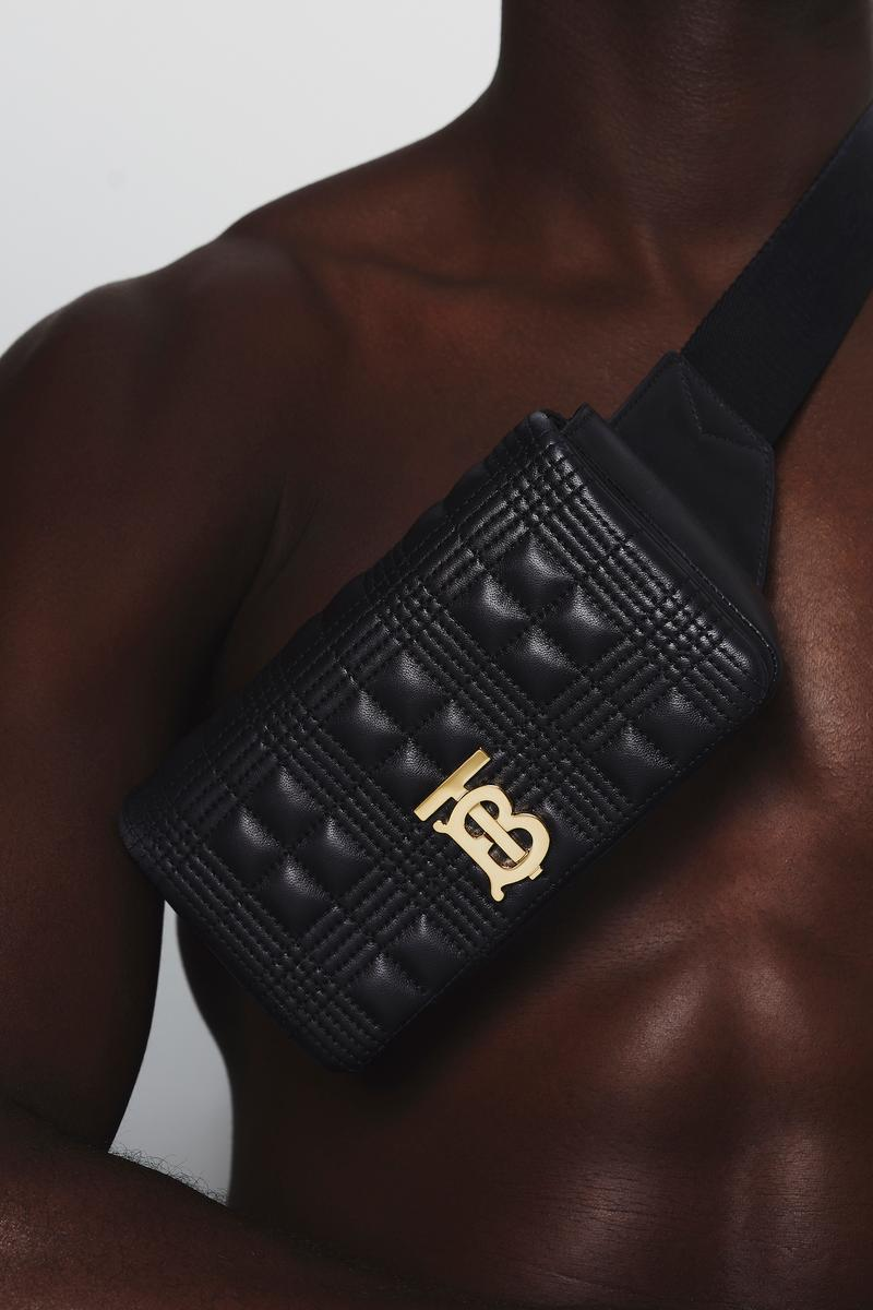 Burberry B Series Lola Quilted Bum Bag Release Thomas Burberry Monogram TB Print Black Luxury Bag Clutch