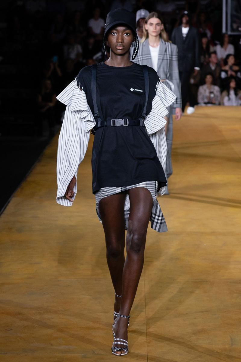 Burberry Riccardo Tisci Spring Summer 2020 London Fashion Week Shirt White Dress Black