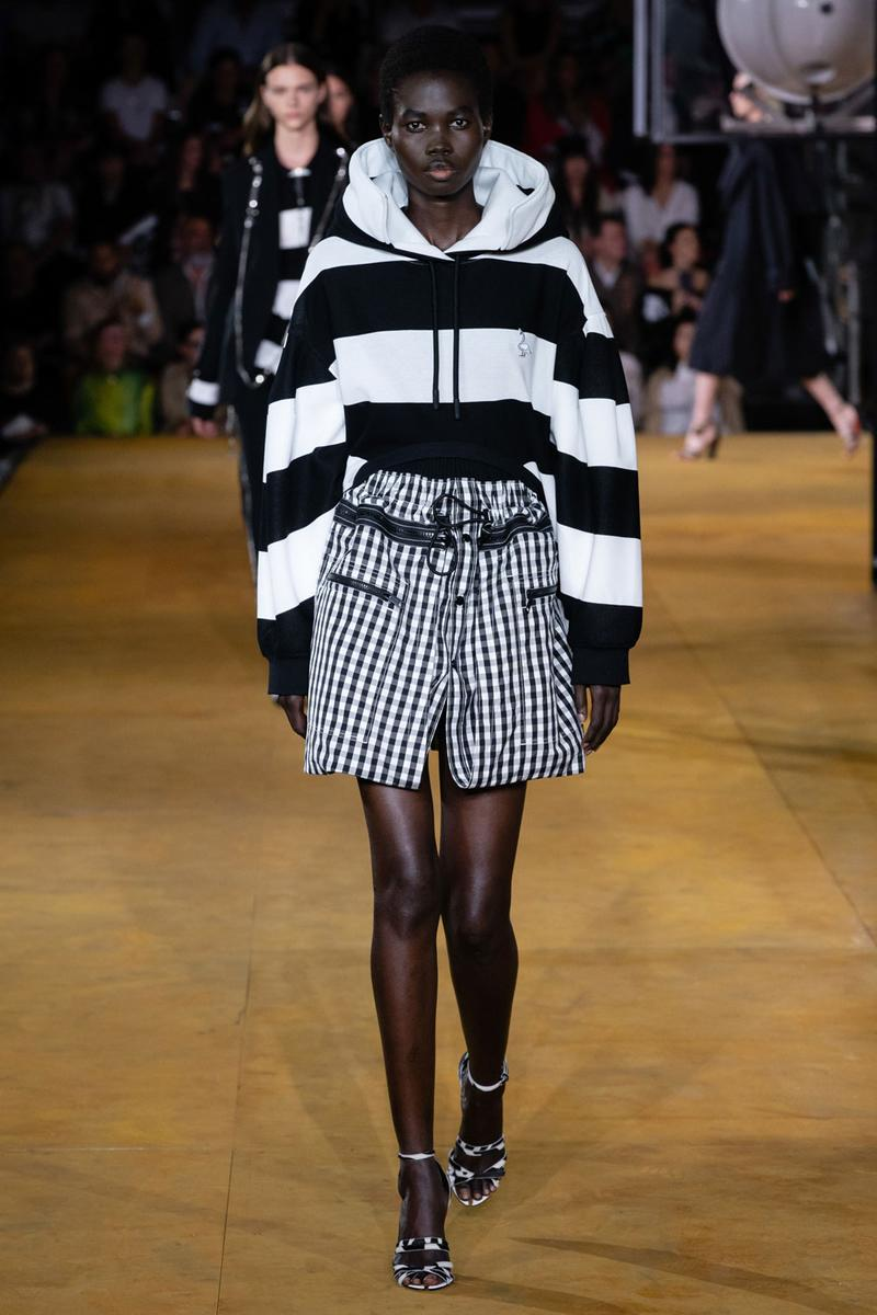 Burberry Riccardo Tisci Spring Summer 2020 London Fashion Week Hoodie Black White