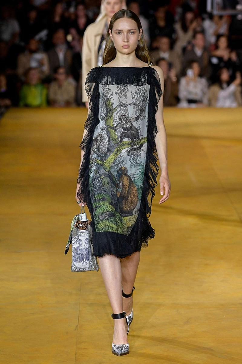 Burberry Riccardo Tisci Spring Summer 2020 London Fashion Week Dress Black
