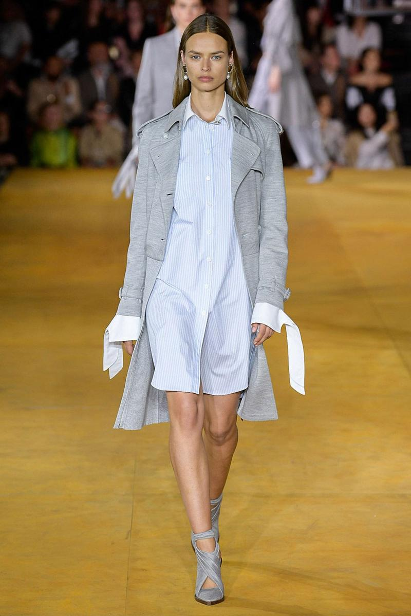Burberry Riccardo Tisci Spring Summer 2020 London Fashion Week Dress Grey