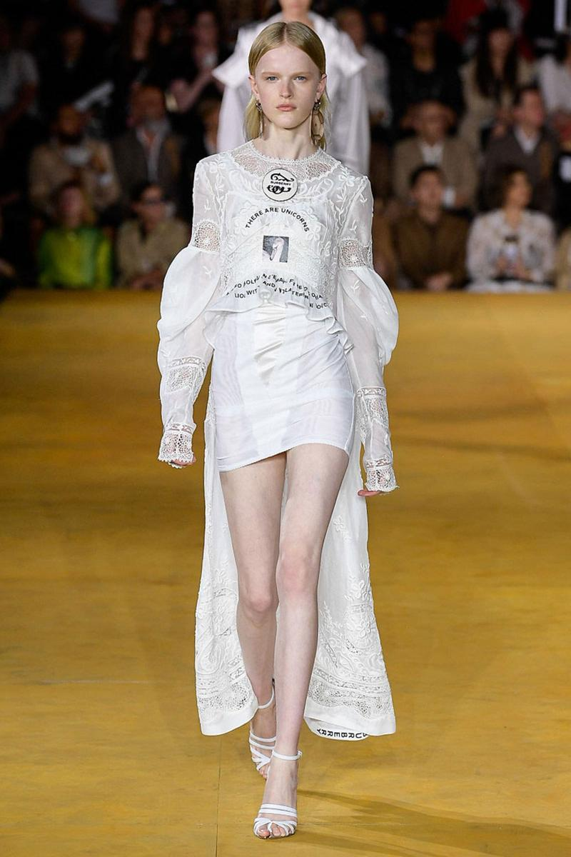 Burberry Riccardo Tisci Spring Summer 2020 London Fashion Week Dress White