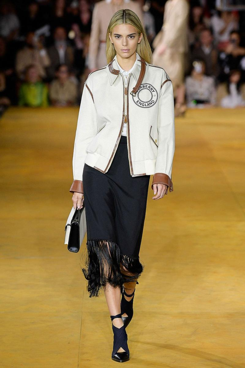 Burberry Riccardo Tisci Spring Summer 2020 London Fashion Week Kendall Jenner Jacket Cream