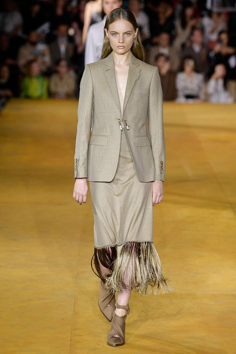 Burberry Riccardo Tisci Spring Summer 2020 London Fashion Week Suit Tan
