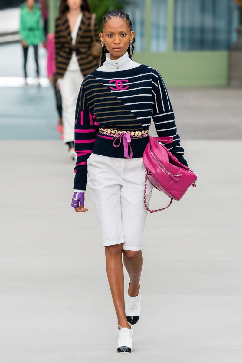 Chanel Resort 2020 Collection Show Sweater Blue White Pink