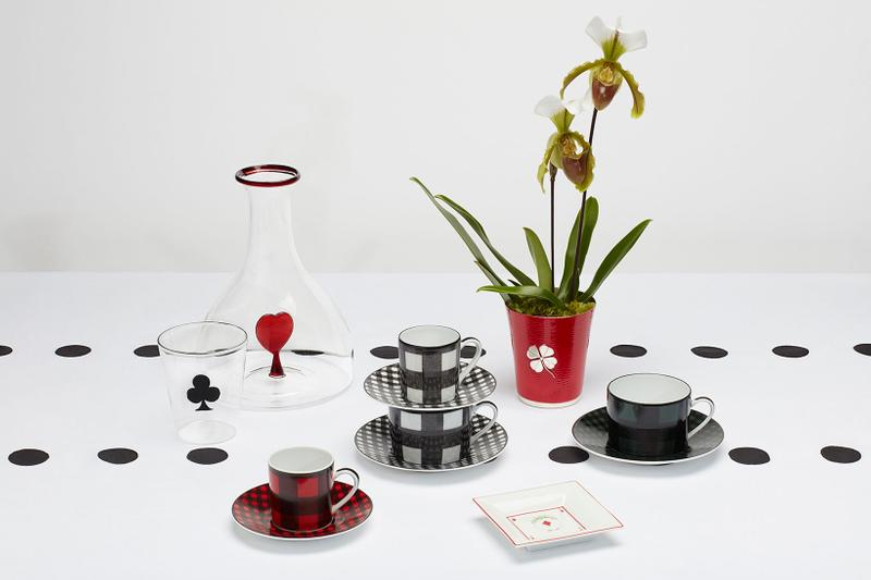 dior maison check'n'dior homeware collection plates cups glasses maria grazia chiuri