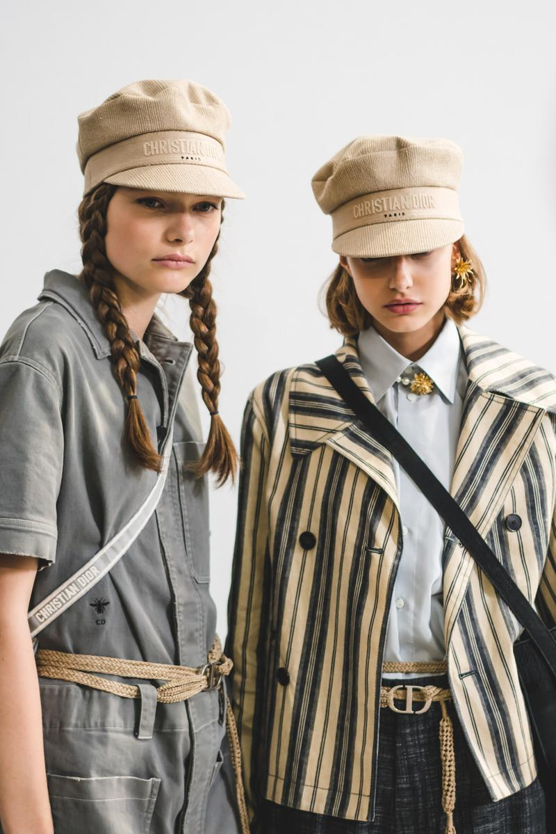 Dior Spring Summer 2020 Paris Fashion Week Collection Show Backstage Look Jackets Hats Tan