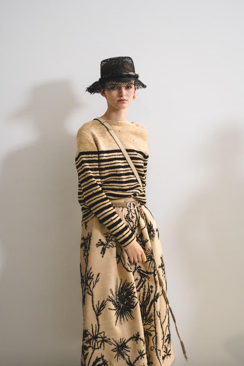 Dior Spring Summer 2020 Paris Fashion Week Collection Show Backstage Look Shirt Skirt Black Tan