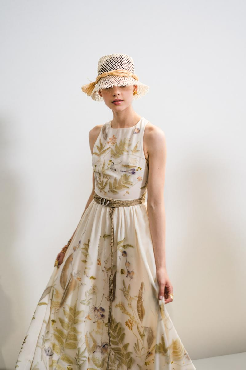 Dior Spring Summer 2020 Paris Fashion Week Collection Show Backstage Look Dress Cream