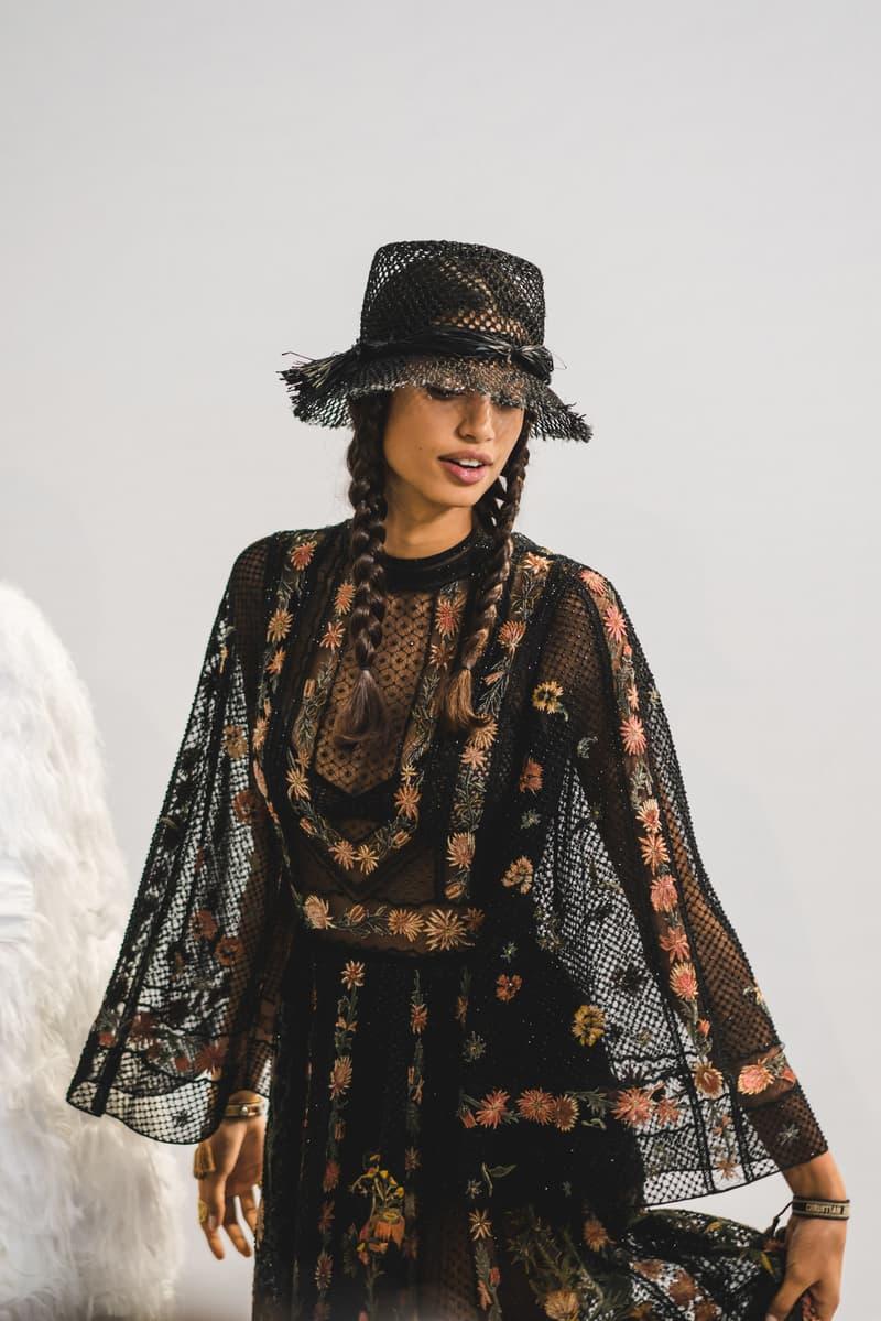 Dior Spring Summer 2020 Paris Fashion Week Collection Show Backstage Look Dress Hat Black