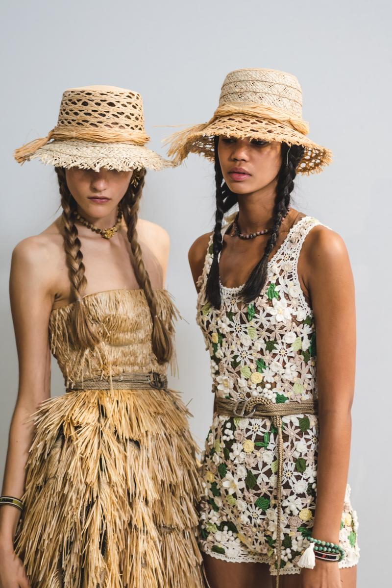 Dior Spring Summer 2020 Paris Fashion Week Collection Show Backstage Look Dresses Tan Cream