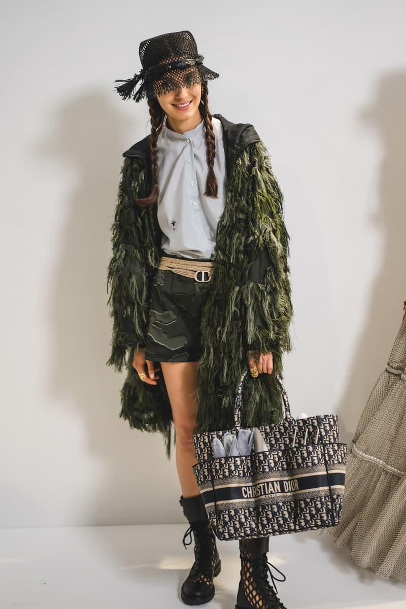 Dior Spring Summer 2020 Paris Fashion Week Collection Show Backstage Look Jacket Bag Black