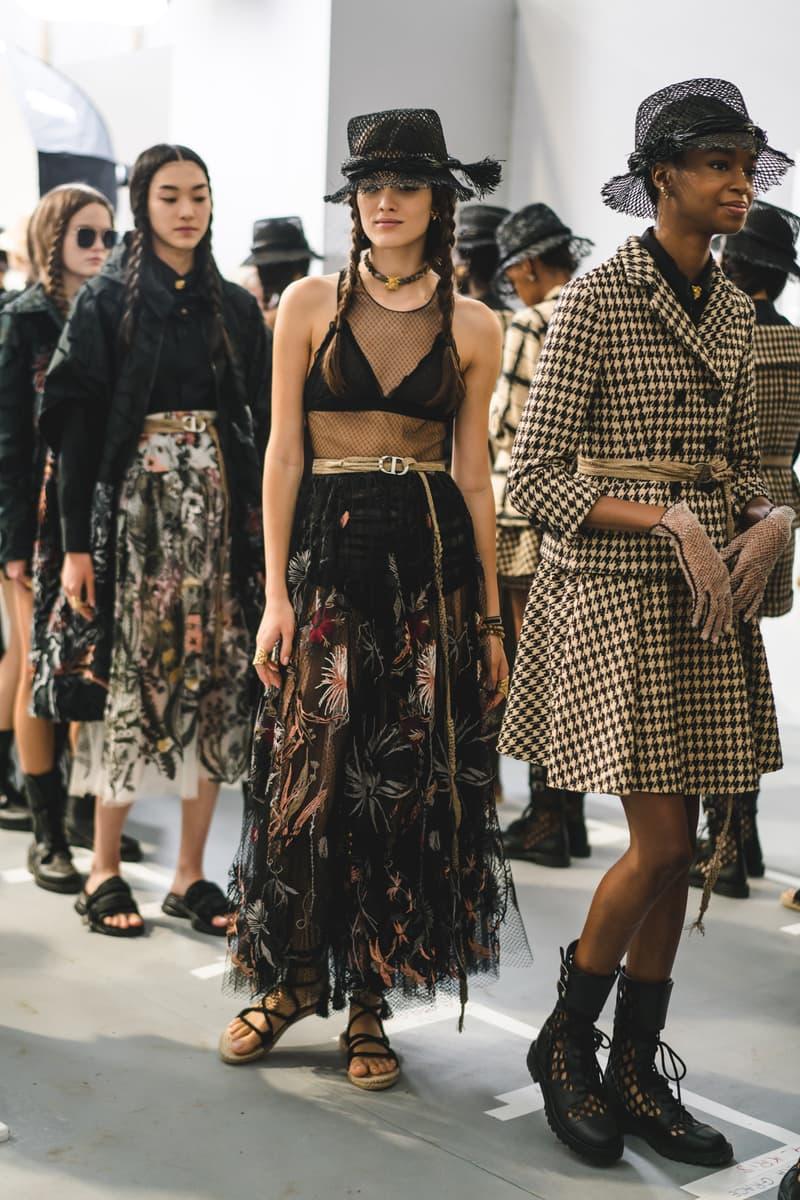 Dior Spring Summer 2020 Paris Fashion Week Collection Show Backstage Look Dress Black