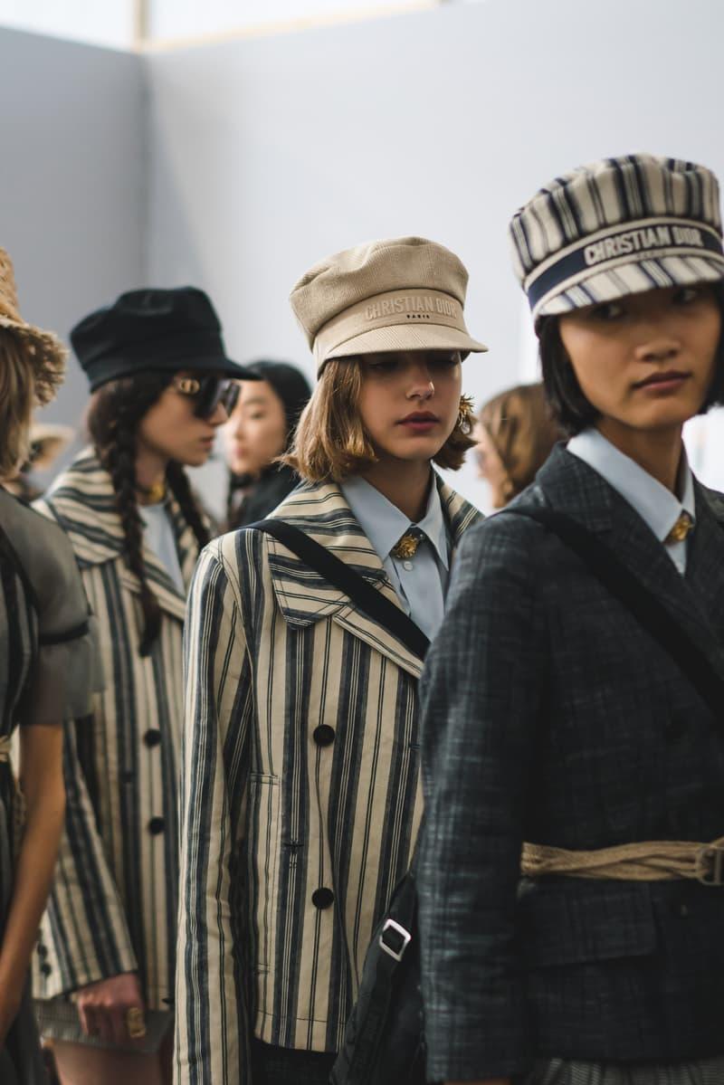Dior Spring Summer 2020 Paris Fashion Week Collection Show Backstage Look Jacket Tan Black