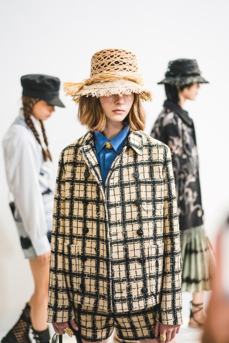 Dior Spring Summer 2020 Paris Fashion Week Collection Show Backstage Look Jacket Hat Tan