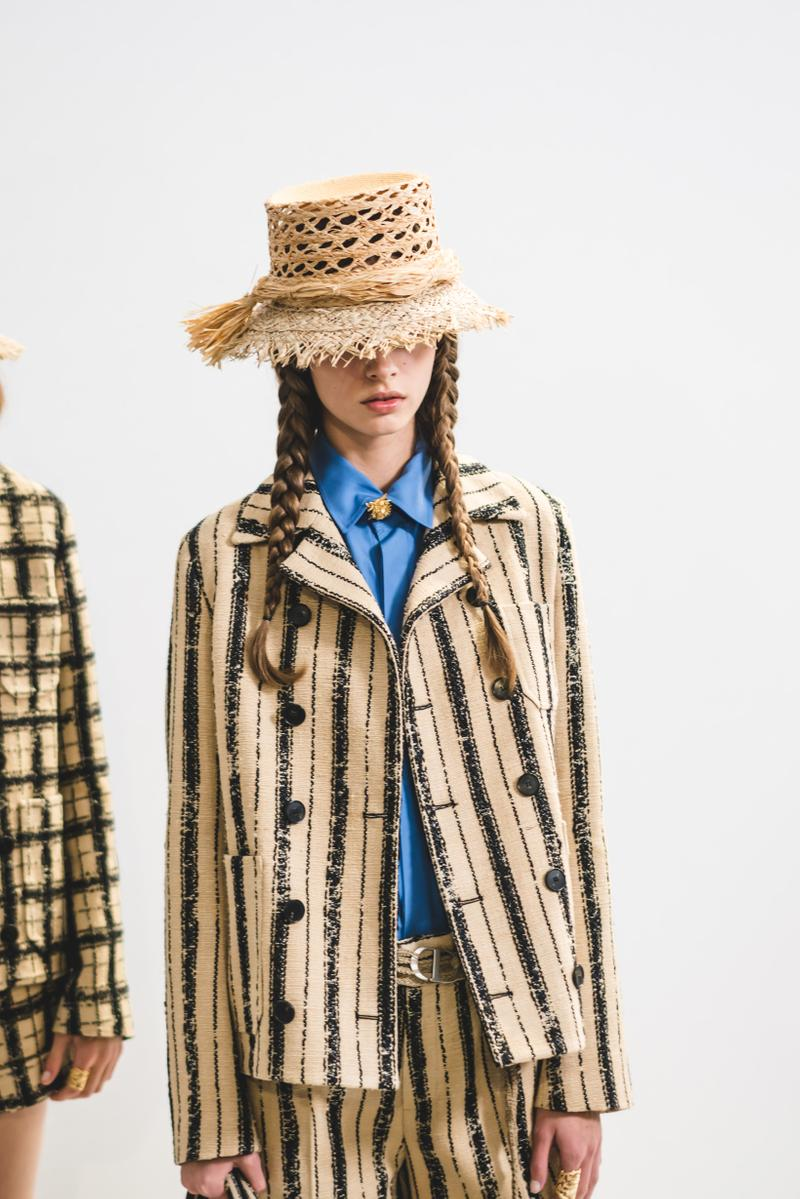 Dior Spring Summer 2020 Paris Fashion Week Collection Show Backstage Look Jackets Hat Tan