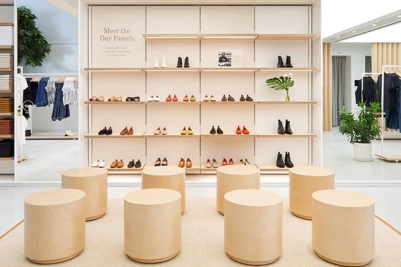everlane williamsburg new york city store interior shopping