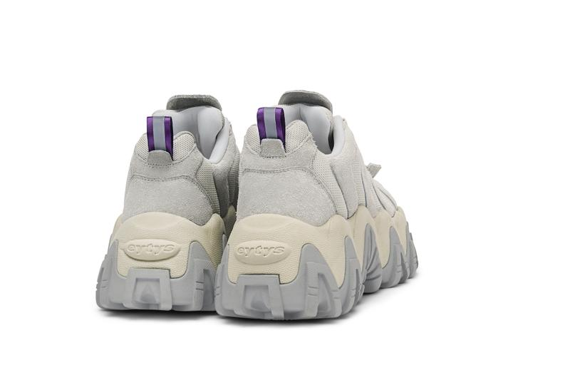 Eytys Halo Chunky Sneaker Platform Release Grey Black White Suede Nubuck Statement Shoe Trainer