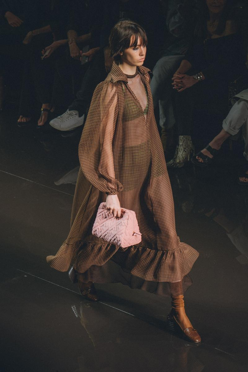 Fendi Spring Summer 2020 Milan Fashion Week Runway Show Model Pink Bag