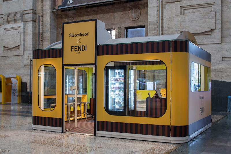 fendi steccolecco collaboration ice cream pop up milan central station dessert food sweets