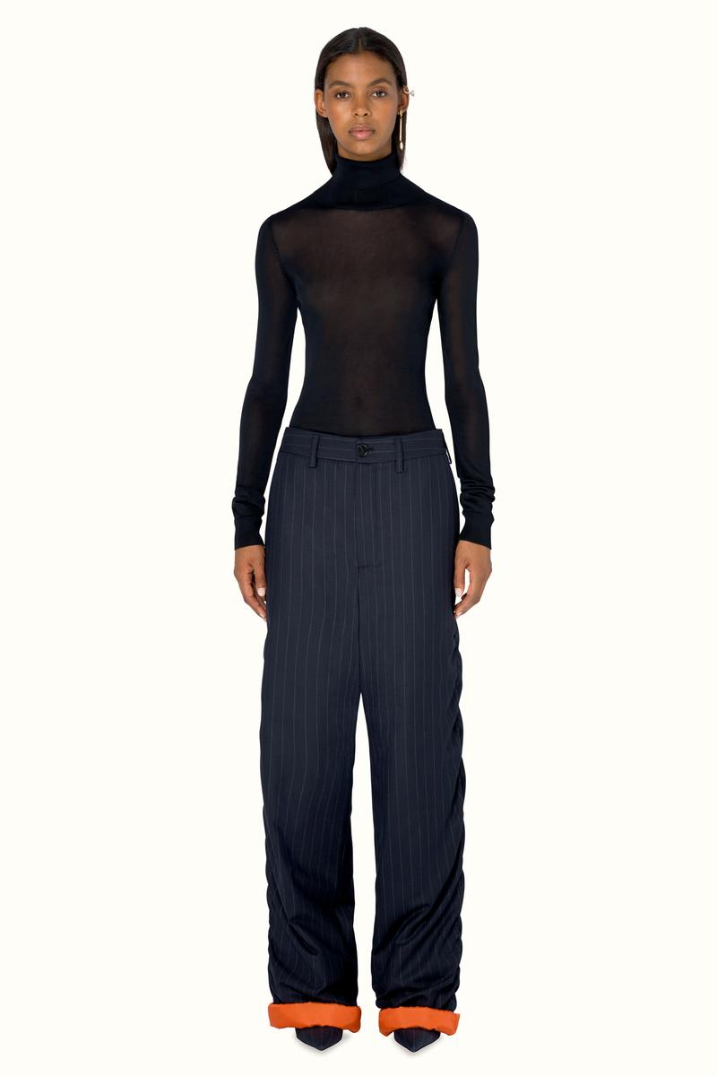FENTY Rihanna Release 9-19 Collection Lookbook Shirt Black Pants Blue