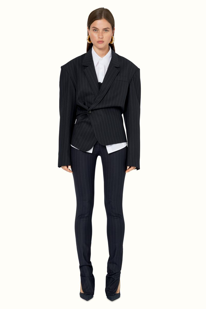 FENTY Rihanna Release 9-19 Collection Lookbook Blazer Blue Pants Black