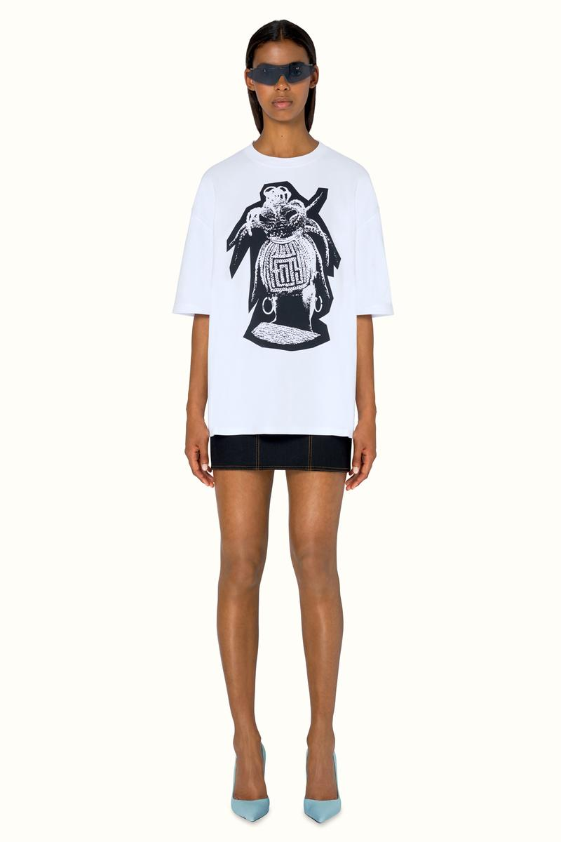 FENTY Rihanna Release 9-19 Collection Lookbook Shirt White Skirt Black