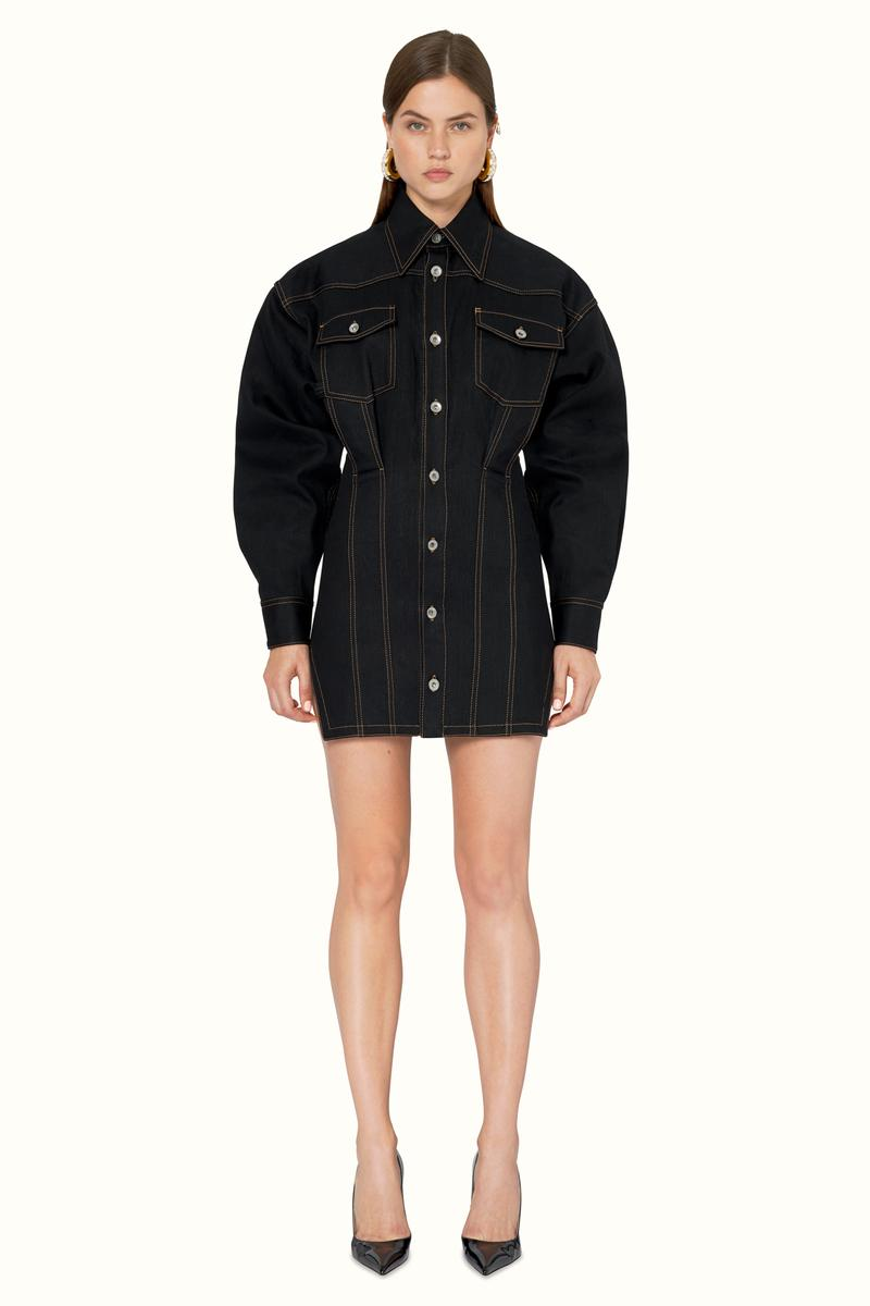 FENTY Rihanna Release 9-19 Collection Lookbook Shirt Dress Black