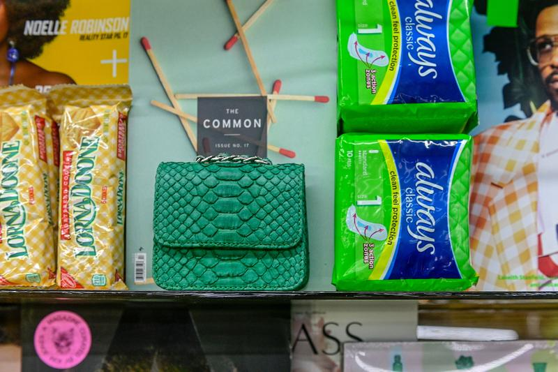 gelareh mizrahi bags mini mart pop up new york city neon bodega shop purses