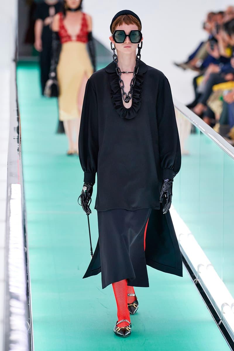 Gucci Orgasmique Spring Summer 2020 Runway Show Milan Fashion Week SS20 black dress flogger