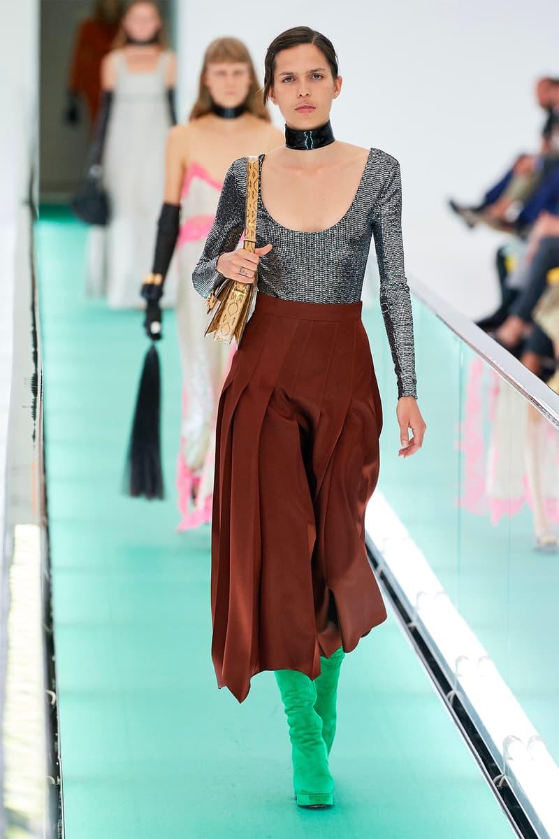 Gucci Orgasmique Spring Summer 2020 Runway Show Milan Fashion Week SS20 choker skirt boots bag