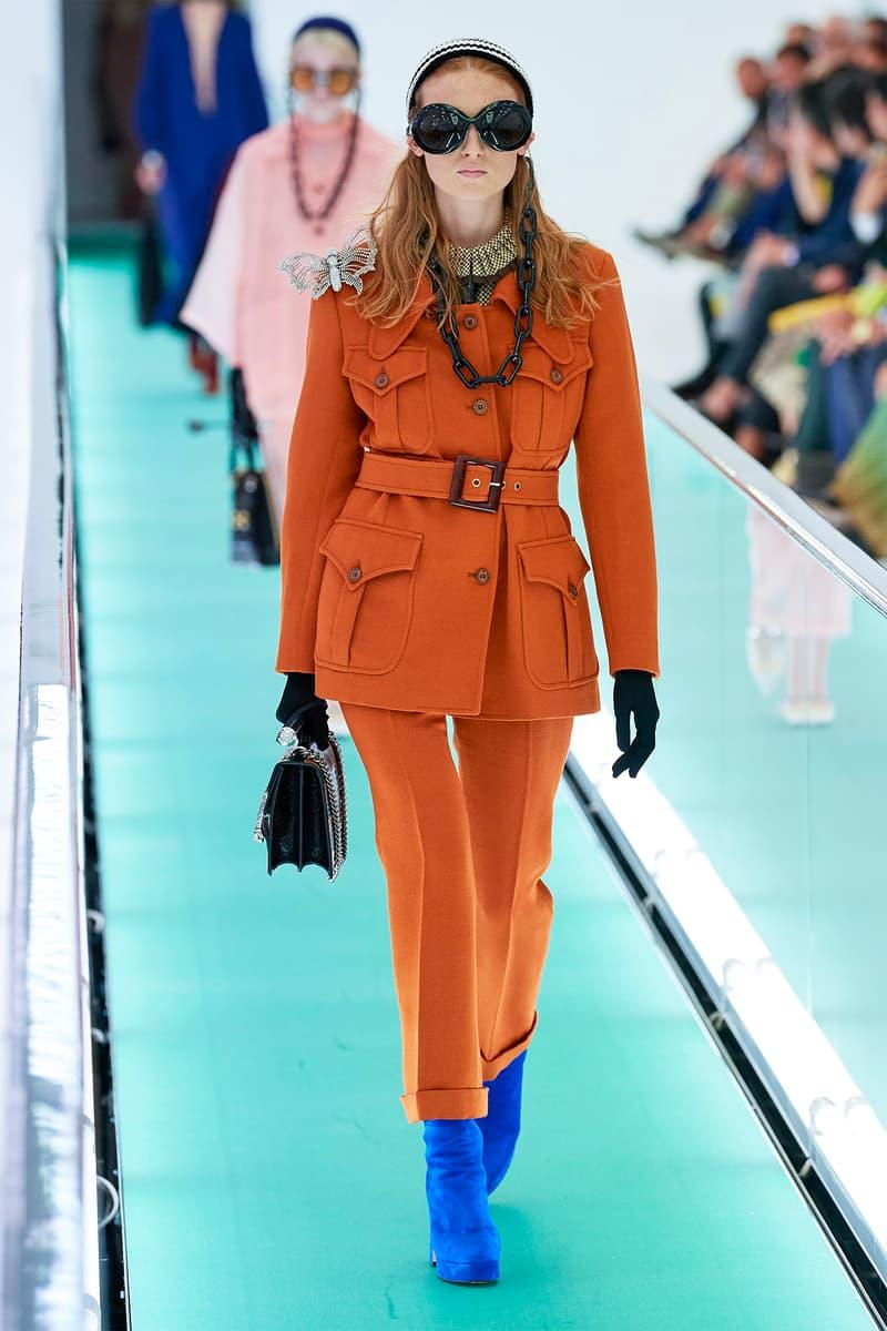 Gucci Orgasmique Spring Summer 2020 Runway Show Milan Fashion Week SS20 orange suit