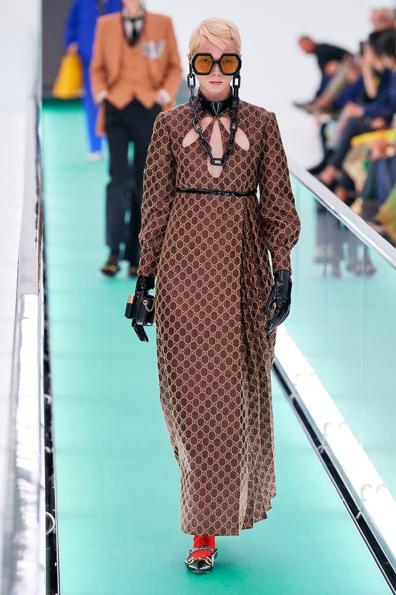 Gucci Orgasmique Spring Summer 2020 Runway Show Milan Fashion Week SS20 brown dress