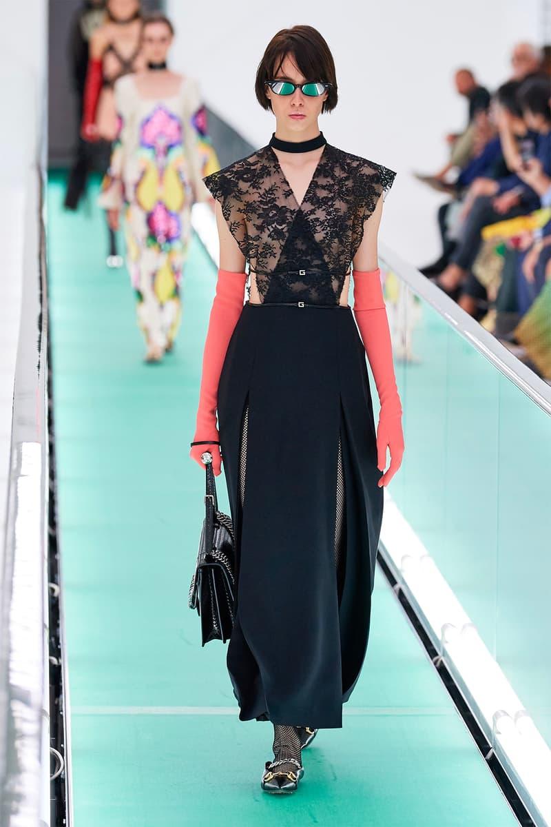 Gucci Orgasmique Spring Summer 2020 Runway Show Milan Fashion Week SS20 lace dress black