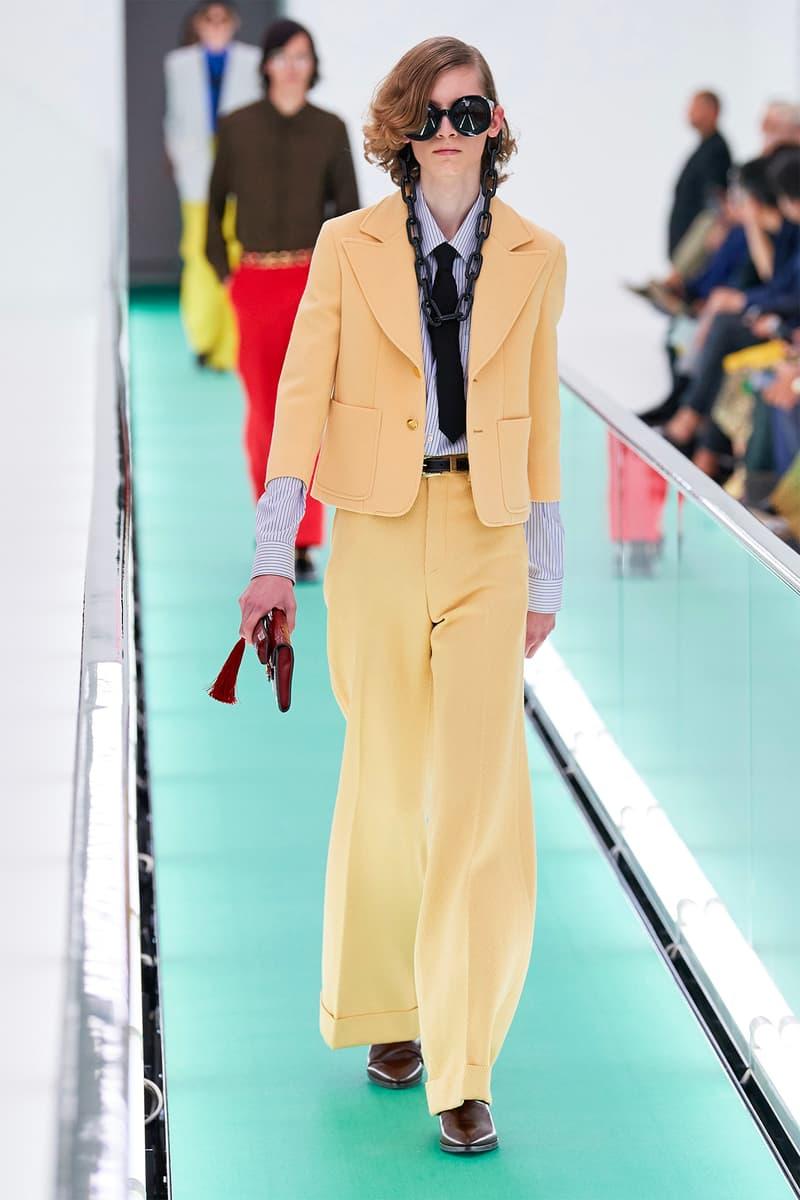 Gucci Orgasmique Spring Summer 2020 Runway Show Milan Fashion Week SS20 yellow suit