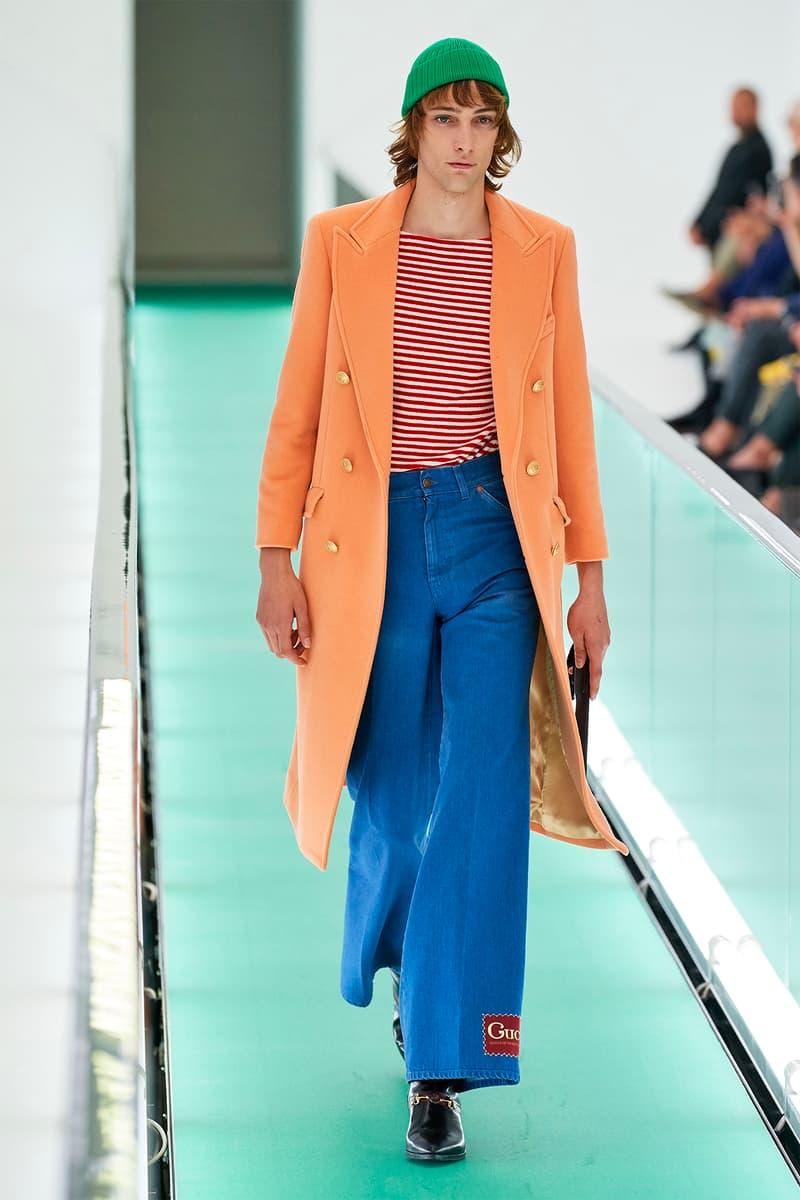 Gucci Orgasmique Spring Summer 2020 Runway Show Milan Fashion Week SS20 orange coat