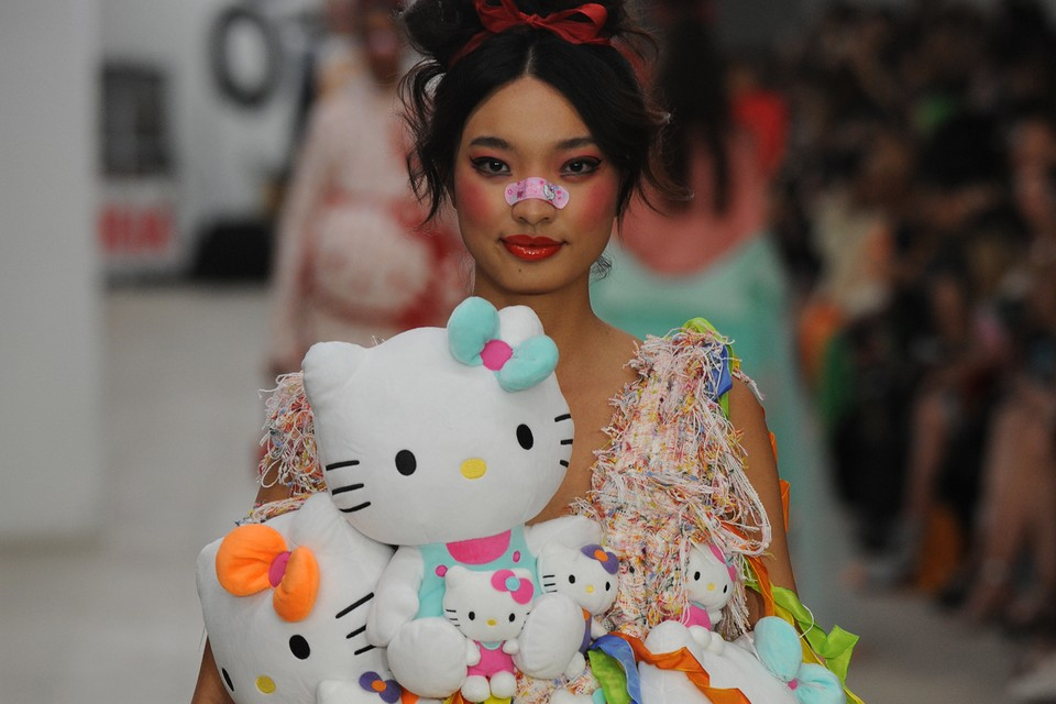 This Designer Sent a Hello Kitty Collection Down the Runway at London Fashion Week SS20