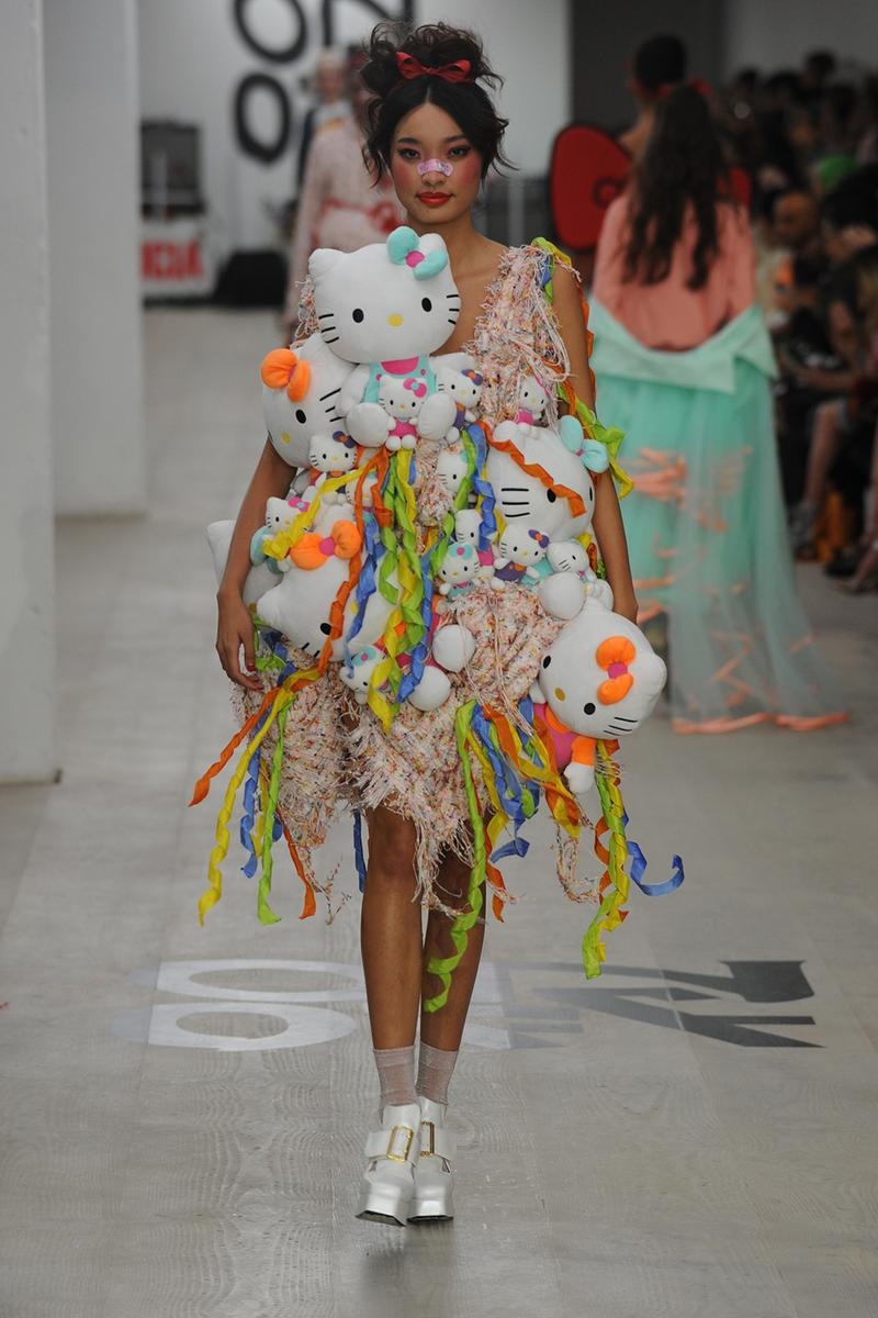 Sanrio Hello Kitty Plush Dress Jimmypaul Lfw Ss20 Hypebae