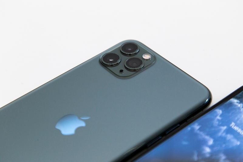 apple iphone 11 space grey pro max camera triple camera