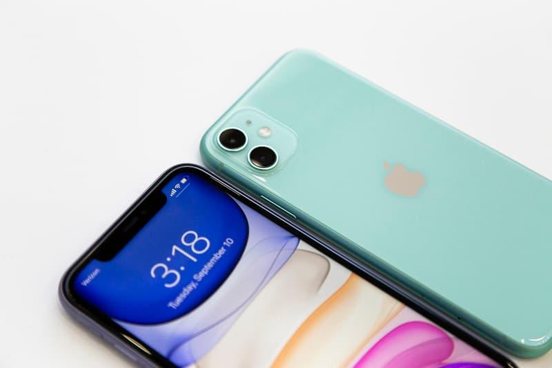 apple iphone 11 purple green dual camera