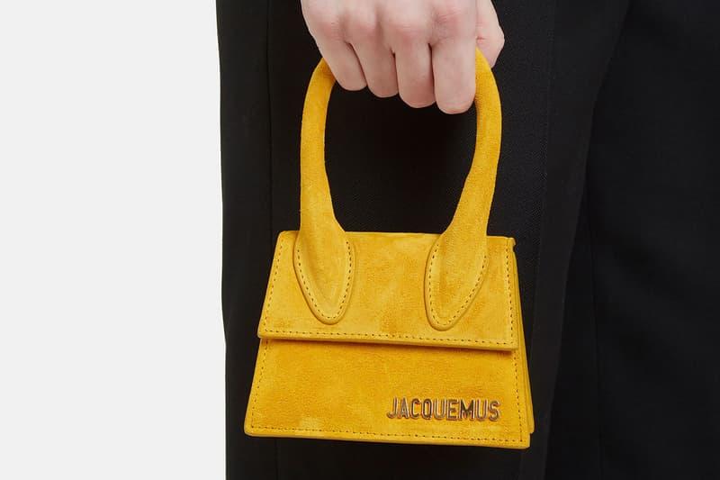 Jacquemus Mini Micro Bag Le Sac Chiquito Yellow Logo Fashion Week Street Style