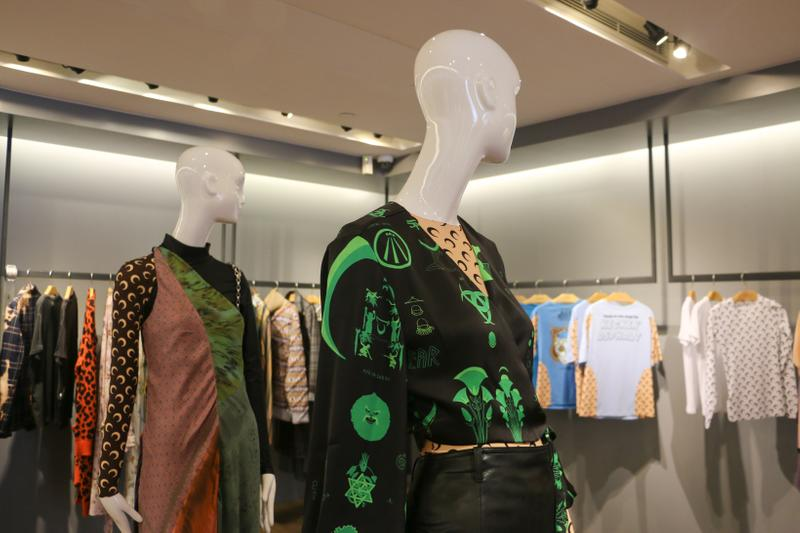 Joyce x Marine Serre Capsule Collection Hong Kong Tops Black Green Pink