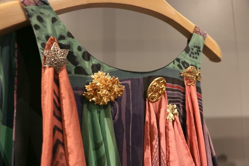Joyce x Marine Serre Capsule Collection Hong Kong Dress Pink Green Gold