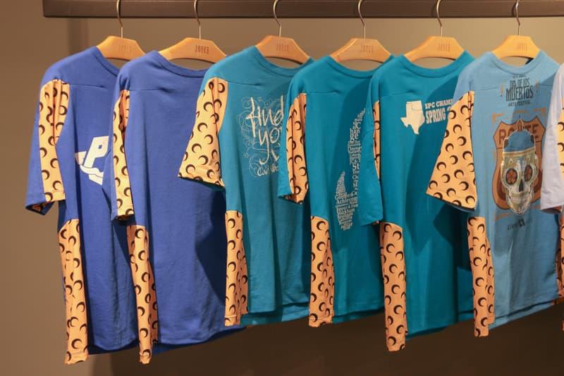 Joyce x Marine Serre Capsule Collection Hong Kong T-Shirts Blue Pink Teal