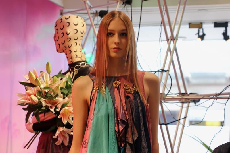 Joyce x Marine Serre Capsule Collection Hong Kong Dress Pink Green