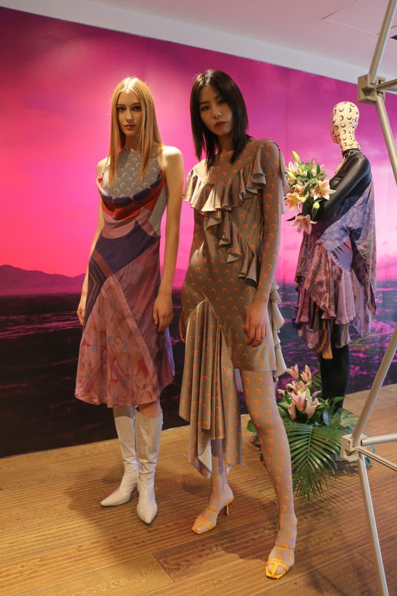 Joyce x Marine Serre Capsule Collection Hong Kong Dresses Pink Green Grey