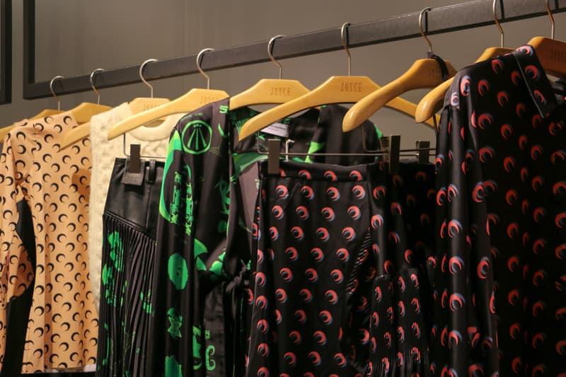 Joyce x Marine Serre Capsule Collection Hong Kong Tops Pink Green Black